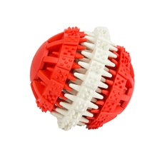 Cute Durable Pets Dog Dental Teeth Ball Toys Funny Puzzle For Pet Dogs Puppy Chew Training Toys Pets Food Container Balls