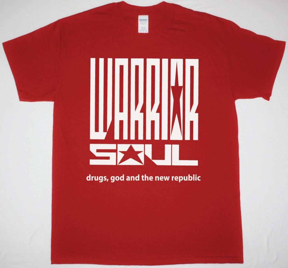 WARRIOR SOUL DRUGS GOD AND THE NEW REPUBLIC RED T SHIRT THE ALMIGHTY THUNDER Unisex Fashion T-Shirt Top Tee Plus Size