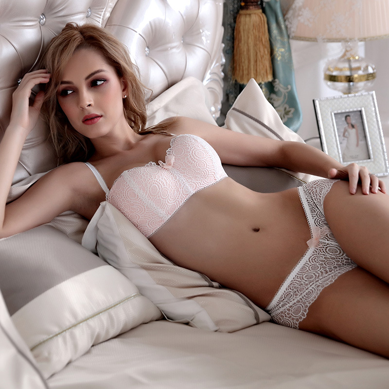 d93af9e5a Hot Sale Europe Women Underwear 1 2 Cup Sexy Lace Bra Panty Set Sexy Linen  Floral Lingerie Sets Lace Push Up Bra Set JYF Brand