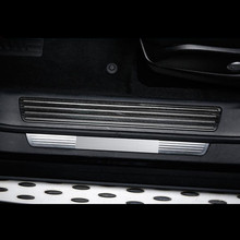 Stainless Steel Car Door Welcome Pedal Built in Threshold Strips Cover Trim For Mercedes Benz ML