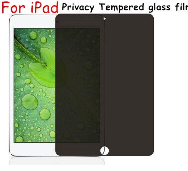 Para A Apple iPad 5 6 tablet Anti-Spy Privacidade Temperado Vidro Protetor de tela de Proteção Filme Protetor de Tela Para iPad air 1 2