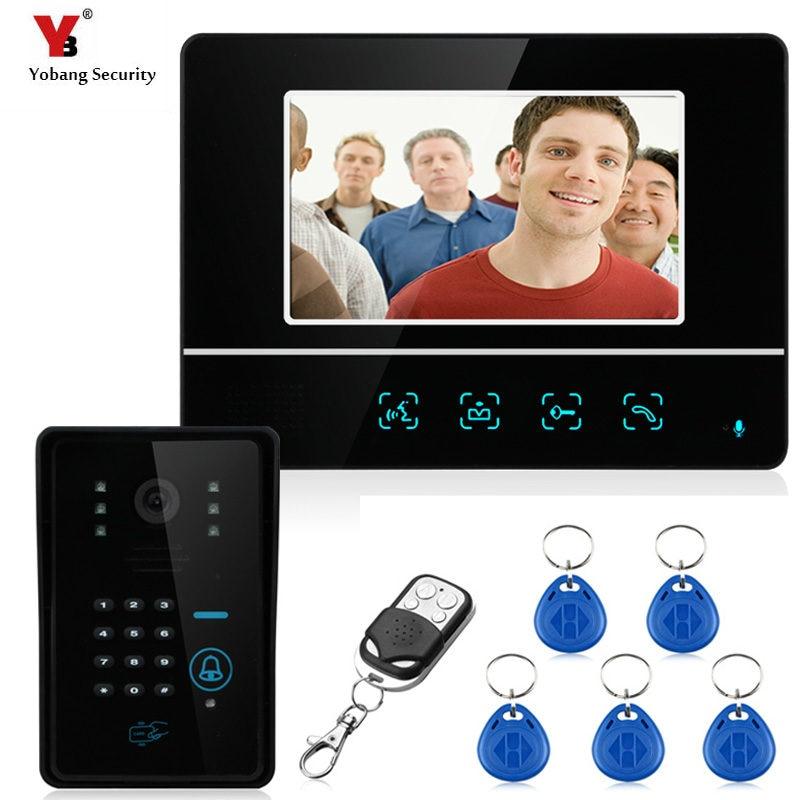 """Yobang Beveiliging Video Deurtelefoon Systeem 7 """"Clear LCD Monitor Wired Video Intercom Deurbel Kits Nachtzicht Camera-in Video-intercom van Veiligheid en bescherming op AliExpress - 11.11_Dubbel 11Vrijgezellendag 1"""