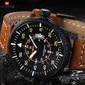 2017 relógios de quartzo homens relógio naviforce marca de luxo homem casual militar do exército relógio do esporte de couro relogio masculino reloj hombre