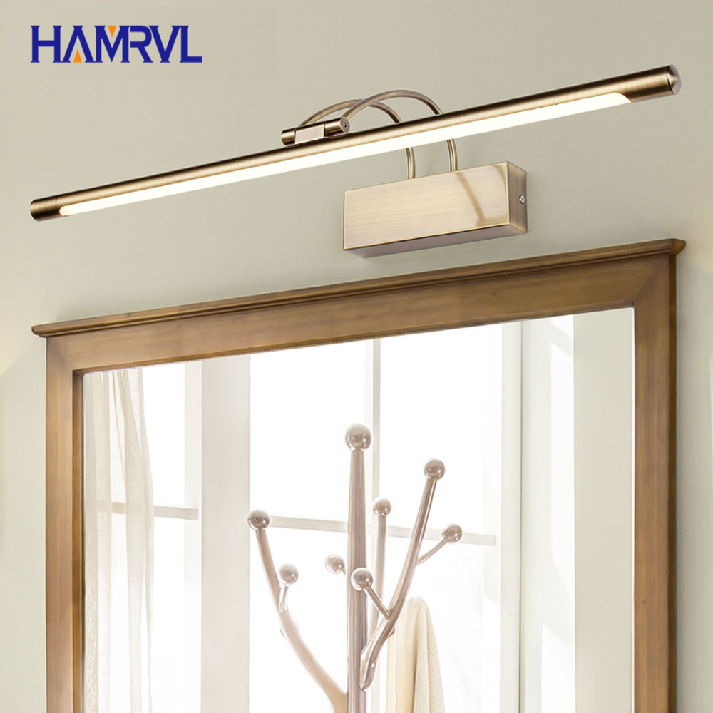 Led Lamps Rational L Led Gold Mirror Cabinet Light Simple Bathroom Moisture-proof Bathroom Mirror Headlight Dressing Table Retro Strip Wall Lamp