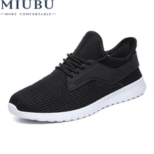 MIUBU Summer Breathable Men Sneakers Mesh Male Casual Shoes Lace up Comfortable Lightweight Walking