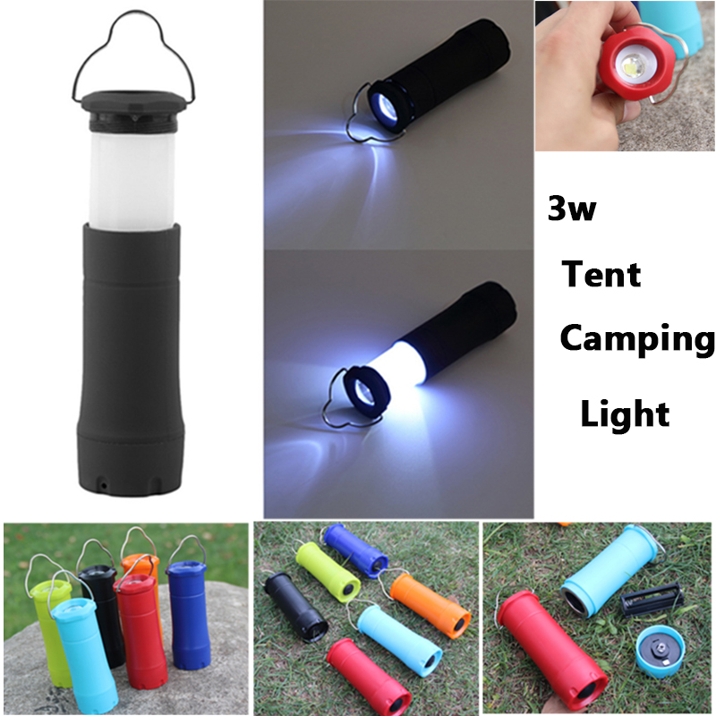 2016 New 3W Tent Camping Lantern Light Hiking LED Flashlight Torch Outdoor Lamp 200LM Portable Lanterns