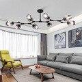 Современные светодиодные скандинавские дизайнерские молекулярные подвесные светильники ветка стекло искусство простое освещение лампа д...