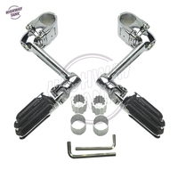 22mm 30mm 35mm Chrome Motorcycle Front Pegs Adjustable Driver Floorboards Moto Foot Rest case for Honda Goldwing GL1800