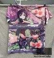 Pista Ship + New Vintage Retro T-shirt Top del Anime Primavera Sakura Pink Sweet Girl Toman la Foto en Granja de La Bicicleta 0389