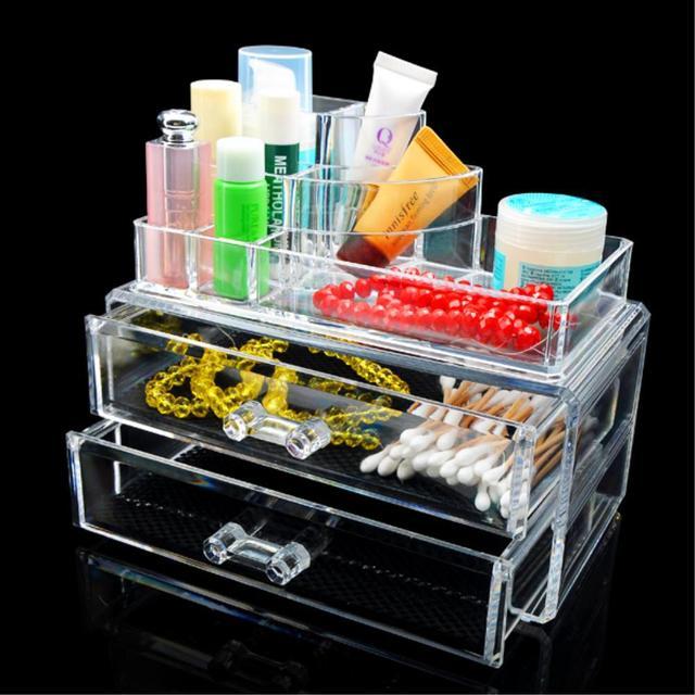 Aliexpress.com : Buy Hot Large 2 Drawers Cosmetics Organizer Clear ...