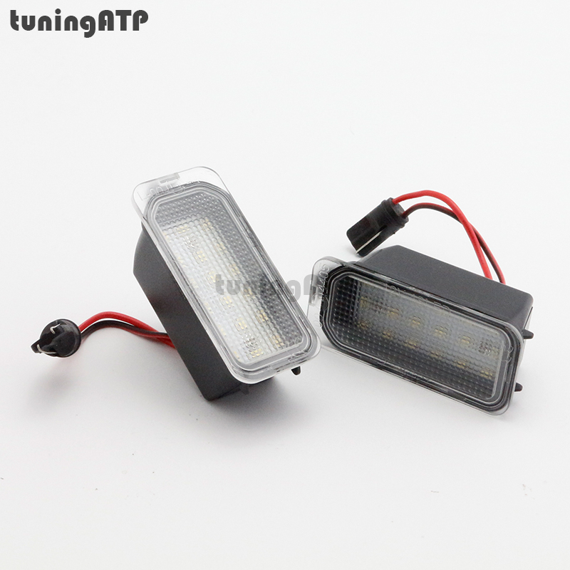 Premium Quality Bright White SMD LED License Plate Light Lamps for Jaguar XF X250 XJ X351 1 pair error free led license plate light for jaguar xf x250 xj x351 auto rear number plate lamps car styling replacement