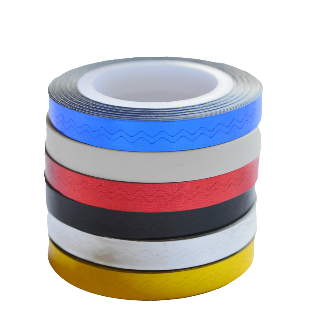 6mm Wellen Design Nailart Strippen Band Linie Selbstklebende Tipps ...