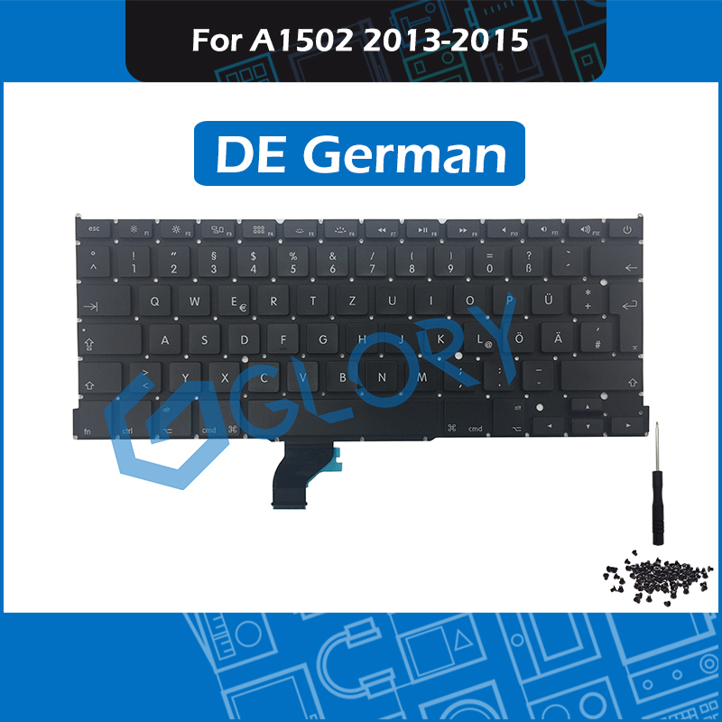 A1502 GER German Keyboard for Macbook Pro Retina 13 Late 2013 Mid 2014 Early 2015 Replacement Keyboard Germany image