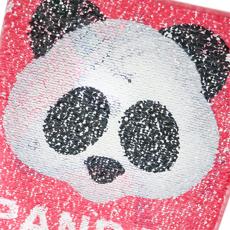 DIY Panda Reversible Color Changing Sequins Sewing Clothes Applique Clothing Jeans Craftdiy Accessories