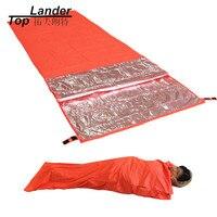 초경량 휴대용 생존 비상 침낭 야외 캠핑 하이킹 침낭 방수 온난화 단일 침낭