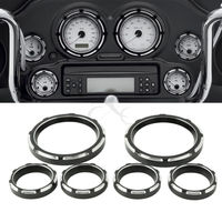 4 Speedometer 2 Gauge Burst Bezel Kit For Harley Touring 1996 2013 Electra Street Glide Road