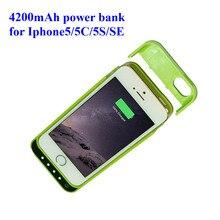 Бесплатная доставка Батарея Зарядное устройство Чехлы для iPhone5/5C/5S/SE 4in1 Мощность банк чехол Ultra Slim внешнего резервного зарядное устройство