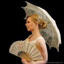 14 цветов на выбор, благородный элегантный Дворцовый стиль, длинная рука, Свадебный зонтик для невесты/кружевной зонтик с вышивкой