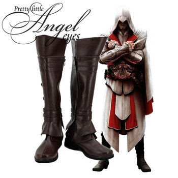 Caldo Gioco Assassin 'S Creed Ezio Auditore del Partito di Cosplay Scarpe Su misura