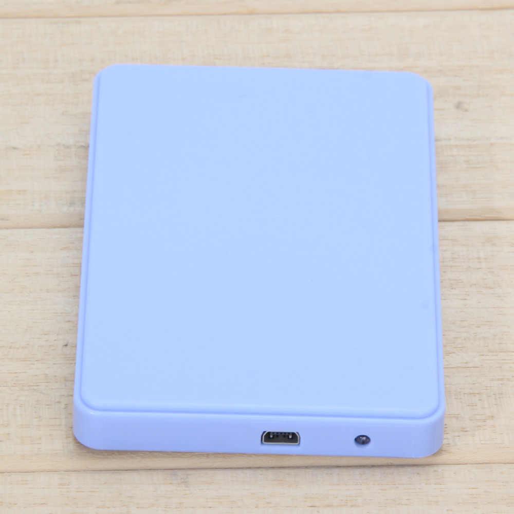 """SATA жесткий диск HD корпус 2,5 """"Синий внешний корпус для жесткого диска USB 2,0 Sata портативный чехол с USB кабелем высокое качество"""