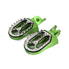 Motorcycle CNC Green Foot Peg Footrests For Kawasaki KX250F/KX450F 2007-2012 2013 2014 2015