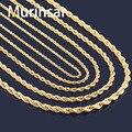 Ouro Cheias Colar de Aço Inoxidável Cadeia de Corda para Homens e Mulheres de Aço Inoxidável Colar de Corrente de Ouro de Alta Qualidade