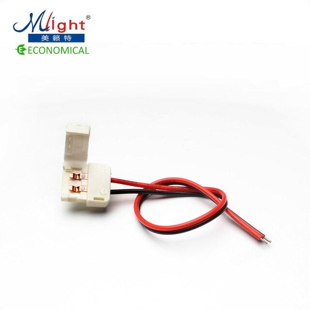 5 pcs 10mm 12v led strip light connector single terminal with wire 5 pcs 10mm 12v led strip light connector single terminal with wire non waterproof 5050 aloadofball Image collections