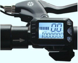speedometer battery indicator LCD display with thumb throttle shifter for electric scooter bike MTB speedview 36v48v Odometer