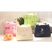 Portable Lunch Bags Handbag Tote Bag Picnic Food Storage Box Thermal Cooler Zip Carry Tote Insulated Tote Pouch Men Women Kids(China)