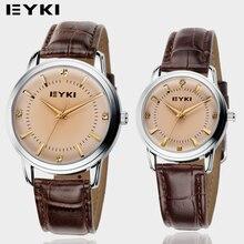 Amantes EYKI 2016 Nuevos Negocios Relojes Ocasionales de Calidad Superior de Japón Movimiento Reloj Hombre Correa de Cuero Genuino Para Hombre Relojes de Pulsera