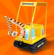 Amusement park with excavator toys, electric drive children's excavator