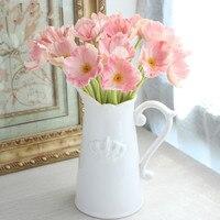 10PCS/ decorating flowers Simulation flower poppy PU poppy living room home decoration flowers artificial flowers