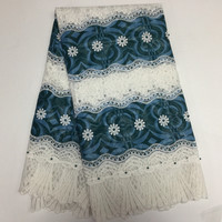 Embroidery Design African Cord Lace Fabrics High Quality Nigeria Wedding Dress Lace Water Soluble Guipure Lace Fabric!16l-7-26