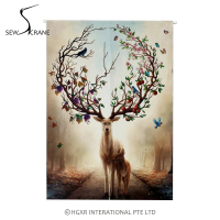 SewCrane Fruits Deer Floral Antler Home Restaurant Door Curtain Noren Doorway Room Divider