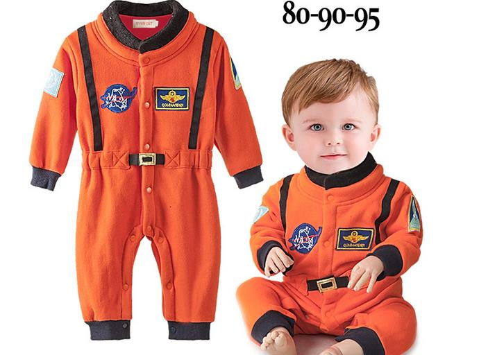 2017 Baby Boy Rompers Astronaut Spacesuit Toddler Infant Boys Jumpsuit Kids Autumn Clothes Pilot Costume Roupas Infantis Menino baby rompers one piece newborn toddler outfits baby boys clothes little girl jumpsuit kids costume baby clothing roupas infantil