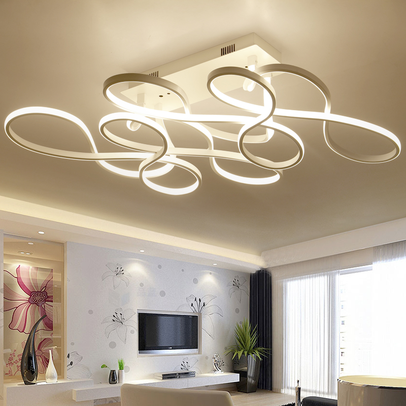 CUICAN New modern led ceiling chandelier lights for living room bedroom square art Indoor acrylic Ceiling chandelier Lamp Fixtur acrylic modern led chandelier lights for living room bedroom square indoor ceiling chandelier lamp fixtures90 260v