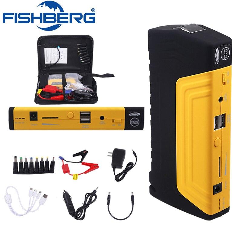 Portable 68800 mAH Mini Démarrage D'urgence Dispositif Aller Starter 12 v pour la voiture Booster batterie externe chargeur de batterie De Voiture 600A Pic