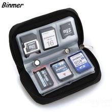 Чехол для переноски карт памяти Micro SD MMC CF с 20 слотами черного цвета