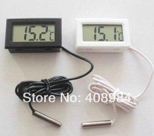 Pantalla de dhl fedex 100 unids Coche refrigerador acuario embedded termómetro d
