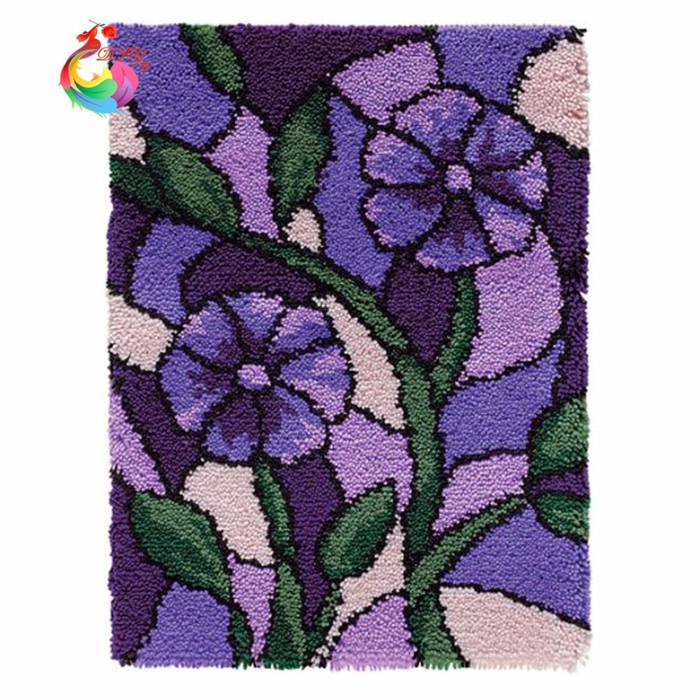 Кухонные ковры и коврики вышивка крестиком ковры нитки для вышивки крючок с защелкой Наборы ковриков Вязание иглы вышитые коврики цветок