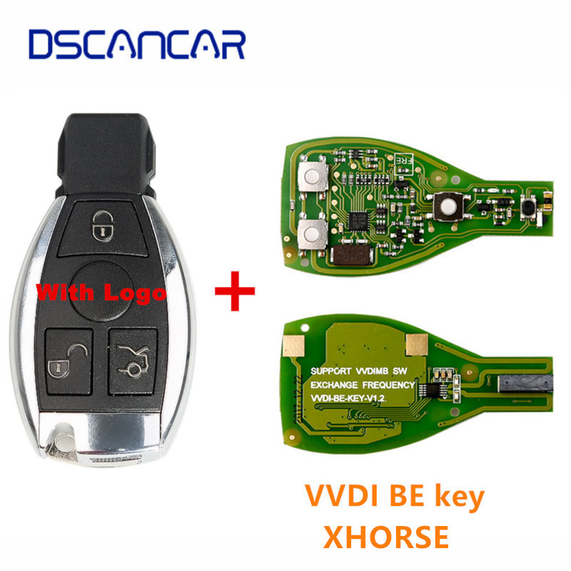 Dscancar Smart Shell 3 Button for Mercedes Benz with logo Assembling with Original
