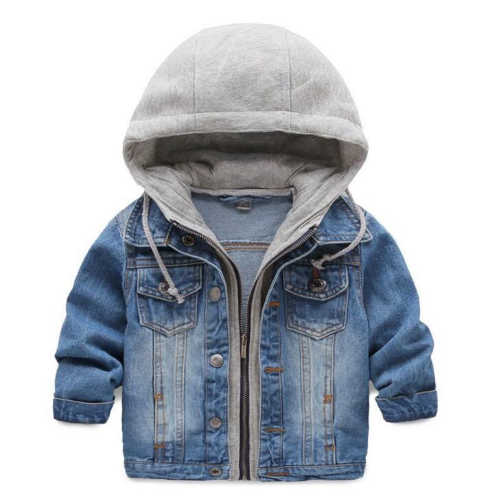 Детская джинсовая куртка для От 3 до 9 лет Обувь для мальчиков Джинсы для женщин пальто Костюмы модные повседневные Обувь для мальчиков Обув...