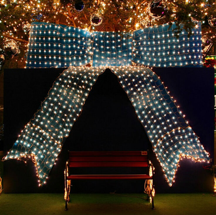 Wedding Party 210 LED Net Lights 3m x 2m LED Giant fairy light ...