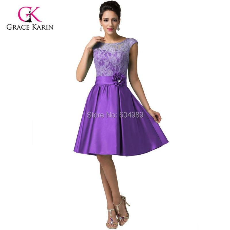 Gracia Karin verde / púrpura / azul Vintage vestido de noche de la ...