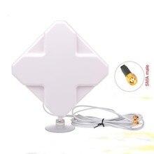 Крытый 35dBi 4 Г полный диапазон 700-2700 мГц 2 * SMA 4 Г LTE антенны