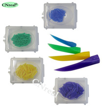 4 boxes/set Dental Plastic Wedges for Oral Endodontic Treatment Orthodontic Material Colors Sizes