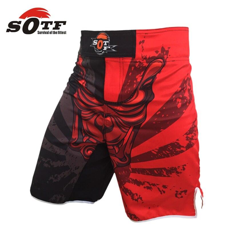SOTF MMA männer boxer shorts kurze fangen käfig kick boxen kämpfen rot/weiß/schwarz muay thai boxen bad boy pretorian sanda