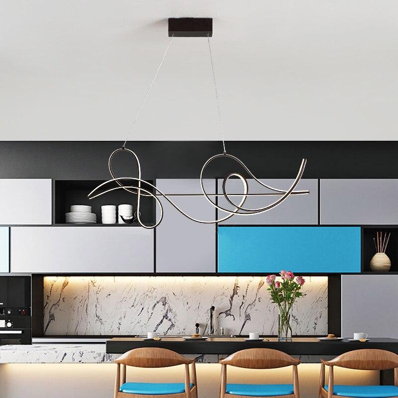 Image 2 - Acabamento de café lâmpada pendurada moderna led lustre para cama  sala jantar cozinha luminária suspensão pingente lumináriaLustres   -