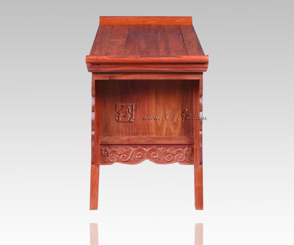Palissandre salon bas armoires casiers classiques chinois Table TV en bois massif 2 tiroirs casiers Redwood comptoir Dragon sculpture - 4