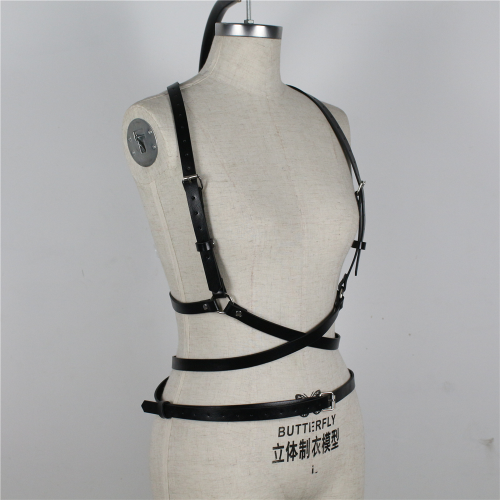 UYEE Trendy Leather Harness Sexy Lingerie Belt Adjustable Leather Garter Women Straps For Female Erotic Waist Body Suspenders 5